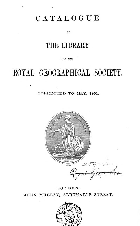 Catalogue ... corrected to May, 1851