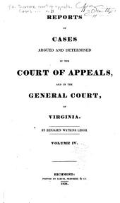Cases Decided in the Supreme Court of Appeals of Virginia: Volume 31