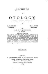 Archives of Otology: Volume 12
