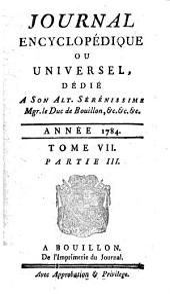 Journal encyclopédique: Volume7,Partie3