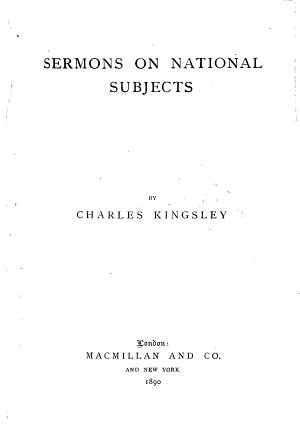 Collected Works of Charles Kingsley  Sermons on national subjects PDF