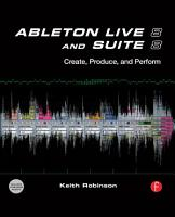 Ableton Live 8 and Suite 8 PDF