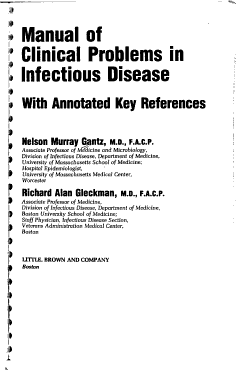 Manual of Clinical Problems in Infectious Disease PDF