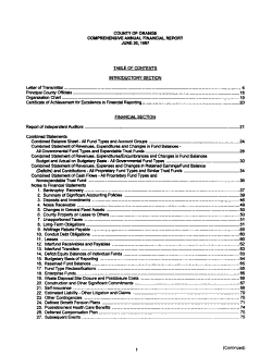 County of Orange Comprehensive Annual Financial Report for the Year Ended     PDF