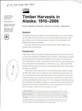 Timber harvests in Alaska: 1910-2006
