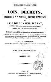 lois, decrets, ordonnances, reglemens