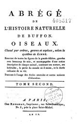 Abrégé de l'histoire naturelle, d'après Buffon, classé par ordres, genres et espèces, selon le système de Linné... (Par J.-B. Rousseau)