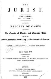 The Jurist: Volume 11, Part 1