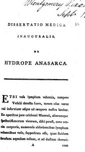 Dissertatio medica inauguralis de hydrope anasarca: Volume 20