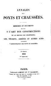 Annales des ponts et chaussées: Partie technique