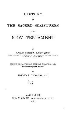 History of the Sacred Scriptures of the New Testament PDF