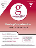 Reading Comprehension GMAT Strategy Guide PDF