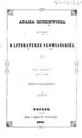 Rzecz o Literaturze słowiańskiéj. 1840-1844: Tomy 3-4