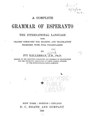 A Complete Grammar of Esperanto PDF