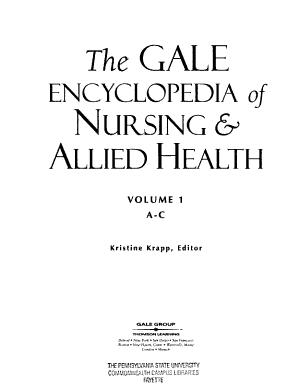 The Gale Encyclopedia of Nursing   Allied Health  A C PDF