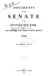 Documents of the Senate of the State of New York: Volume 38