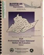 Route 26 Transportation Improvements, Centre County: Environmental Impact Statement, Volume 1