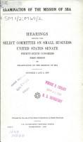 Examination of the Mission of SBA PDF