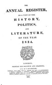 The Annual Register: World Events .... 1834. - 1835