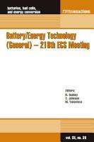 Battery Energy Technology  General    218th ECS Meeting PDF