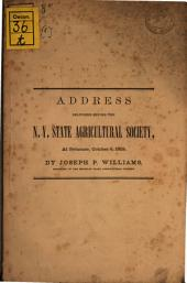Address delivered before the New York State Agricultural Society: Volume 1