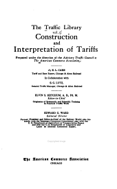 Construction and interpretation of tariffs, by E.L. Carr and S.G. Lutz