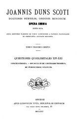 Opera omnia: Volume 26