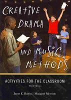 Creative Drama and Music Methods PDF