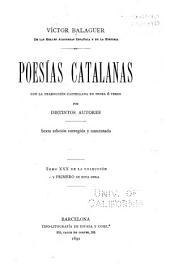 Poesías catalanas con la traducción castellana en prosa ó verso: Volumen 1