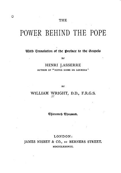 Download The Power Behind the Pope Book