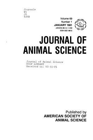 Journal of Animal Science PDF