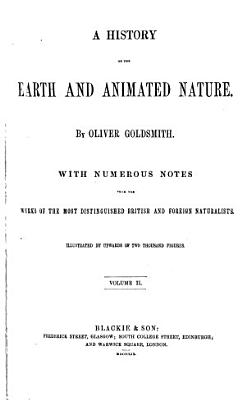 History of the Earth and Animated Nature PDF
