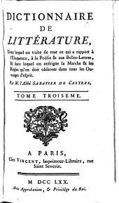 Dictionnaire de littérature...