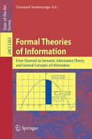 Formal Theories of Information PDF