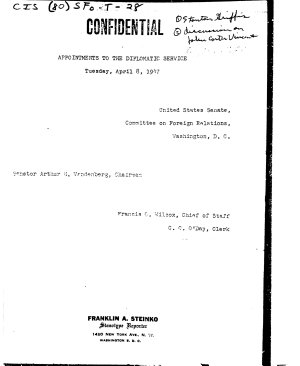 Appointments to the Diplomatic Service  Tuesday  April 8  1947