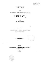 Notice sur Jean-Nicolas-Barthélémy Gustave Levrat