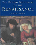 The Oxford Dictionary of the Renaissance PDF