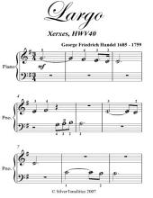 Largo Beginner Piano Sheet Music