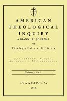 American Theological Inquiry  Volume Three  Issue Two PDF