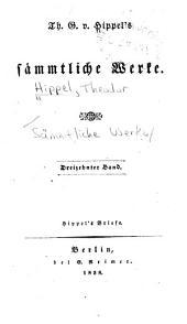 -14. Bd. Hippel's Briefe