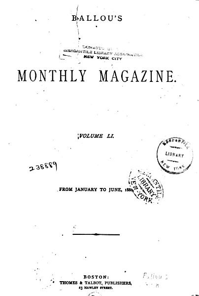 Download Ballou s Monthly Magazine Book