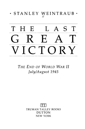 The Last Great Victory PDF