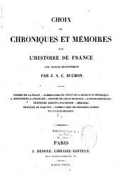 Choix de chroniques et mémoires sur l'histoire de France (XVIe siècle).