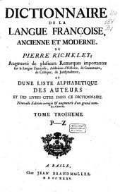 Dictionnaire de la langue françoise ancienne et moderne: Volume3