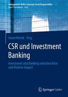 CSR und Investment Banking PDF