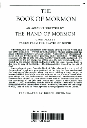 The Book of Morman