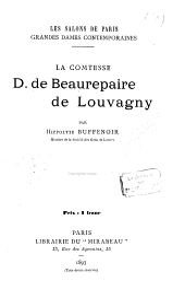 La comtesse D. de Beaurepaire de Louvagny
