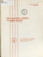 Keywords Index to U S  Government Technical Reports PDF