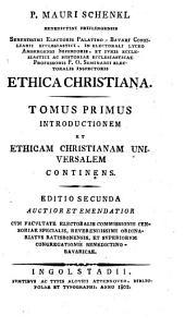 Ethica Christiana: Volume 1