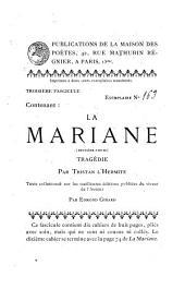 La Mariane: tragédie